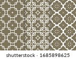 set of seamless pattern on... | Shutterstock .eps vector #1685898625