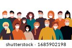 collection of people in... | Shutterstock .eps vector #1685902198