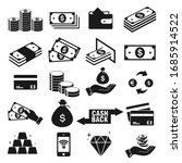 Money And Payment Icons Set ...