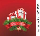 merry christmas | Shutterstock .eps vector #168591788