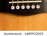 Guitar White Tailpiece With Six ...