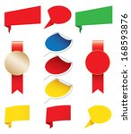 blank awards  stickers origami | Shutterstock . vector #168593876