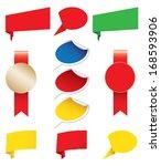 blank awards stickers  origami | Shutterstock .eps vector #168593906