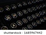 Vintage Typewriter Keys Closeup ...