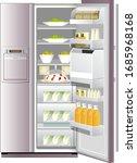illustration of refrigerator ... | Shutterstock .eps vector #1685968168
