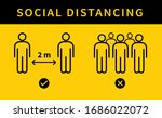 social distancing icon. keep... | Shutterstock .eps vector #1686022072