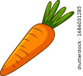 One Carrot On White Background...