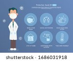 covid 19 protection concept.... | Shutterstock .eps vector #1686031918