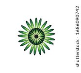 aboriginal art dots painting...   Shutterstock .eps vector #1686090742