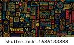 ethnic handmade ornament ... | Shutterstock .eps vector #1686133888