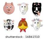 various cartoon comic farm... | Shutterstock .eps vector #16861510