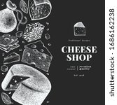 cheese design template. hand... | Shutterstock .eps vector #1686162238