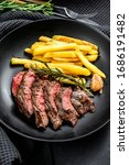 Sliced Flat Iron Steak With...