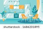 illustration cozy interior... | Shutterstock .eps vector #1686201895