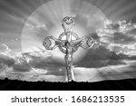 Black And White Image Of Jesus...
