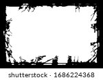grunge frame. black template on ... | Shutterstock .eps vector #1686224368