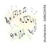 music design elements | Shutterstock . vector #168623456