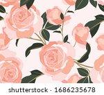 shabby chic roses pattern.... | Shutterstock .eps vector #1686235678