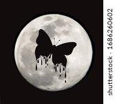 vector silhouette of butterfly... | Shutterstock .eps vector #1686260602