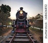 Vintage Steam Engine Train With ...