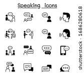 talk  speech  discussion ...   Shutterstock .eps vector #1686280618