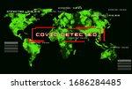 world map crisis virus spread...