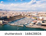 Aerial View Of Barcelona City...