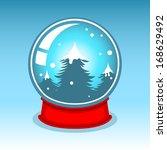 christmas snow globe    Shutterstock .eps vector #168629492