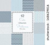 12 cute different chevron... | Shutterstock .eps vector #168629816