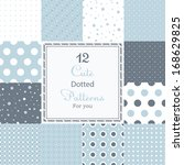 12 cute different dotted vector ...