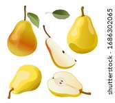 yellow pear  pear slices...   Shutterstock .eps vector #1686302065