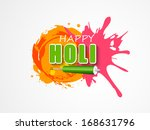 indian color festival holi... | Shutterstock .eps vector #168631796