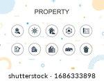 property  trendy infographic...