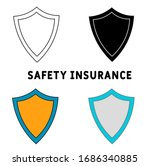 safety insurance icon in...