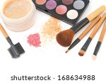 make up brush set and facial ... | Shutterstock . vector #168634988