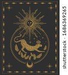 jaguar  sun and moon  magical... | Shutterstock .eps vector #1686369265