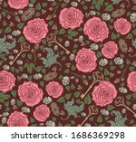 Seamless Pattern With Roses ...