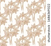 seamless pattern with daffodils ...   Shutterstock .eps vector #1686369322