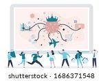 covid 19 pandemic. quarantine... | Shutterstock .eps vector #1686371548