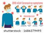 coronavirus infographic banner... | Shutterstock .eps vector #1686379495