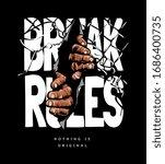 break through slogan with hand... | Shutterstock .eps vector #1686400735