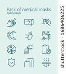 pack of medical masks outline... | Shutterstock .eps vector #1686406225