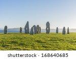 menhirs park on campo de la... | Shutterstock . vector #168640685