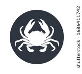 crab graphic icon. sea crab... | Shutterstock .eps vector #1686411742