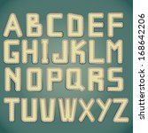 alphabet set with stitched... | Shutterstock . vector #168642206