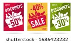 set of posters for grocery... | Shutterstock .eps vector #1686423232