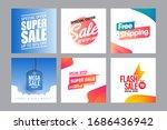 sale discount banner template... | Shutterstock .eps vector #1686436942
