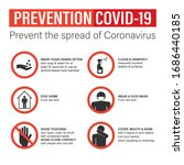 infographic of prevention... | Shutterstock .eps vector #1686440185