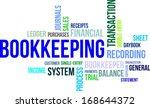 a word cloud of bookkeeping... | Shutterstock .eps vector #168644372