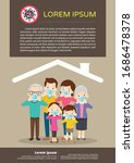 family wearing protective... | Shutterstock .eps vector #1686478378